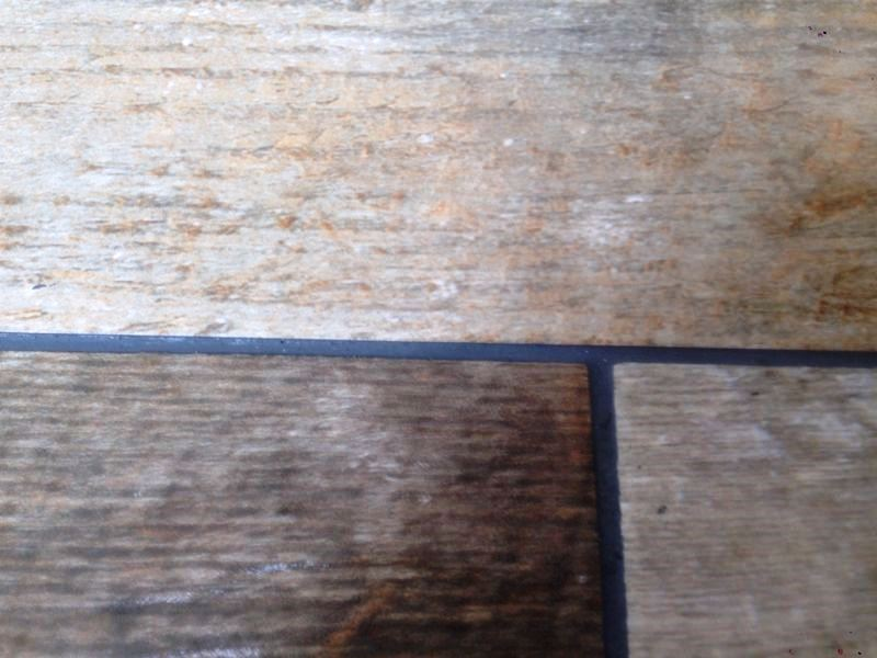 Changing Grout Colour on Wood Effect Tiles in Hull Step 5