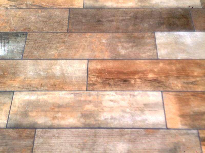 Changing Grout Colour on Wood Effect Tiles in Hull Step 6