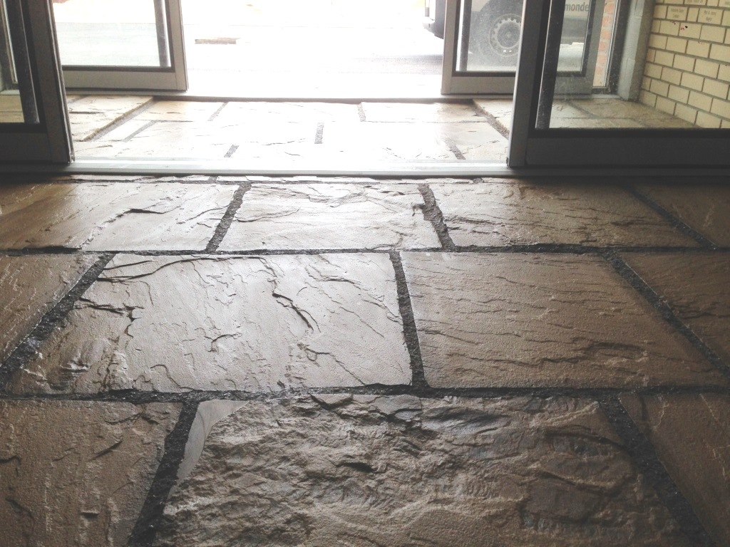 Flagstone Floor in Driffield Farm Office After Sealing
