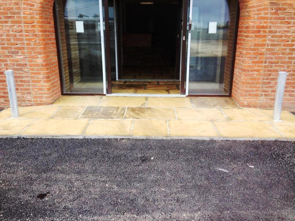 Flagstone Floor in Driffield Farm Office After Sealing