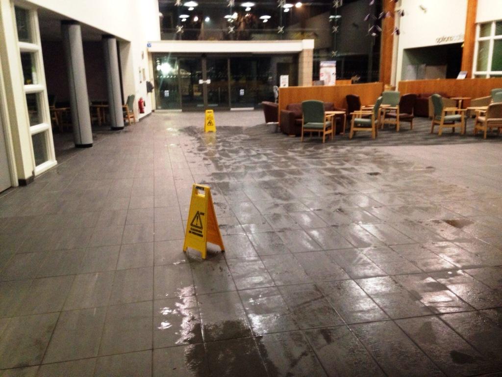 Deep Cleaning Porcelain Tiled Floor Cottingham Hospital