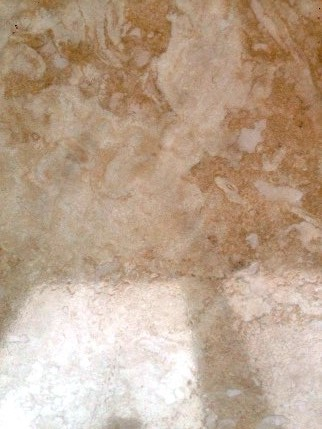 Travertine Wall tiles After Cleaning and Polishing Hull