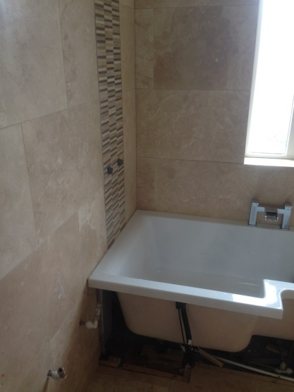 Travertine Wall Tiles Before Cleaning Polishing And Sealing Hull ...