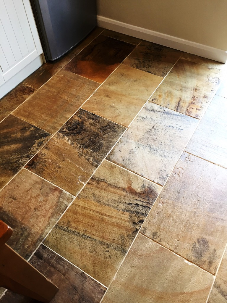 Indian Sandstone Floor After Cleaning Swanland