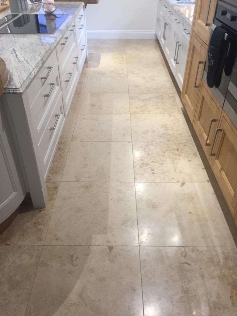 Marble Floor Before Repolishing North Ferriby