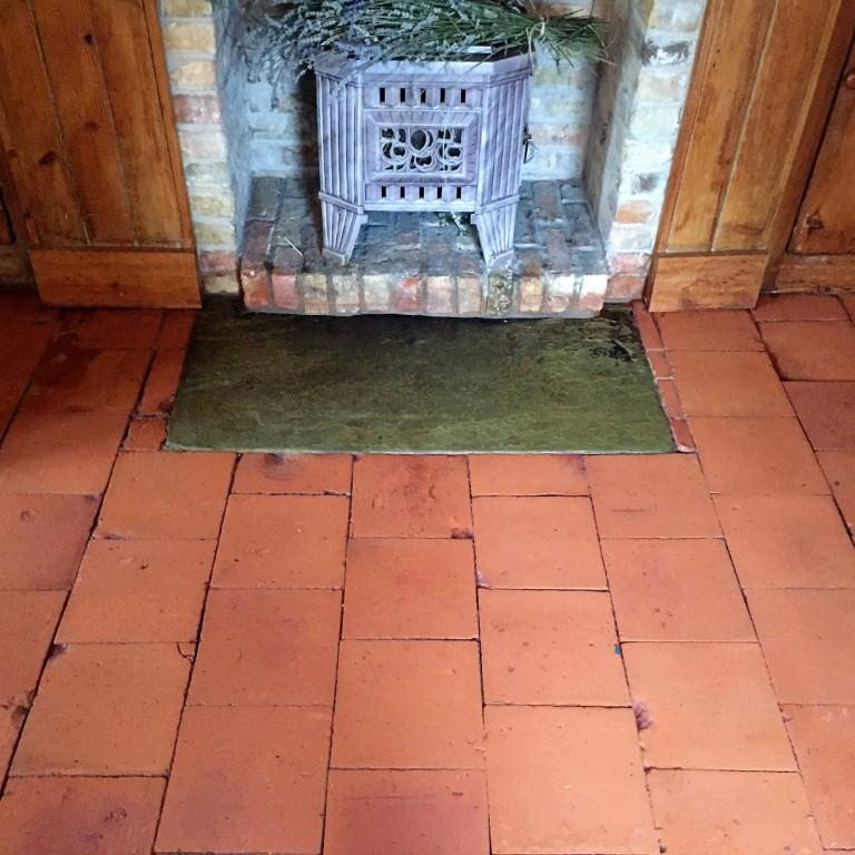 Old Quarry Tiled Floor After Cleaning in Market Weighton