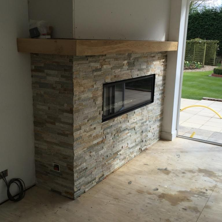 Oyster Slate Fireplace After Installation Wawne