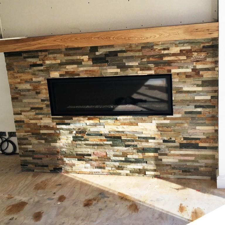 Oyster Slate Fireplace After Sealing Wawne