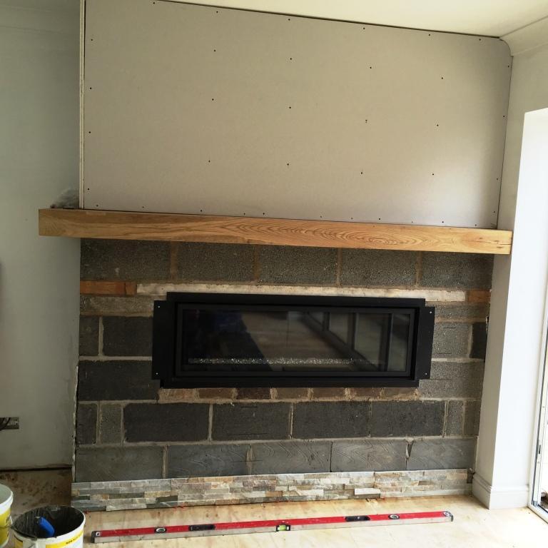 Oyster Slate Fireplace Before Installation Wawne