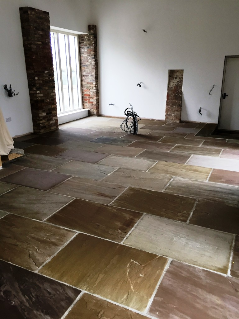 Yorkshire Stone Floor After Cleaning and Sealing Driffield