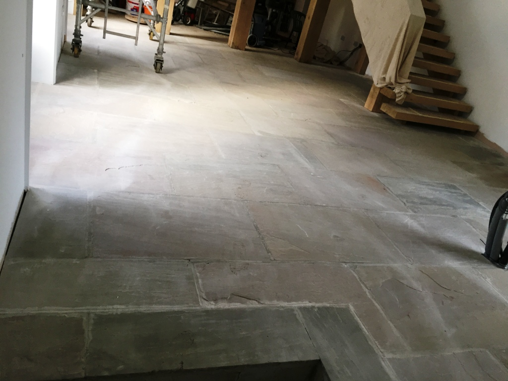 Yorkshire Stone Floor Before Cleaning and Sealing Driffield