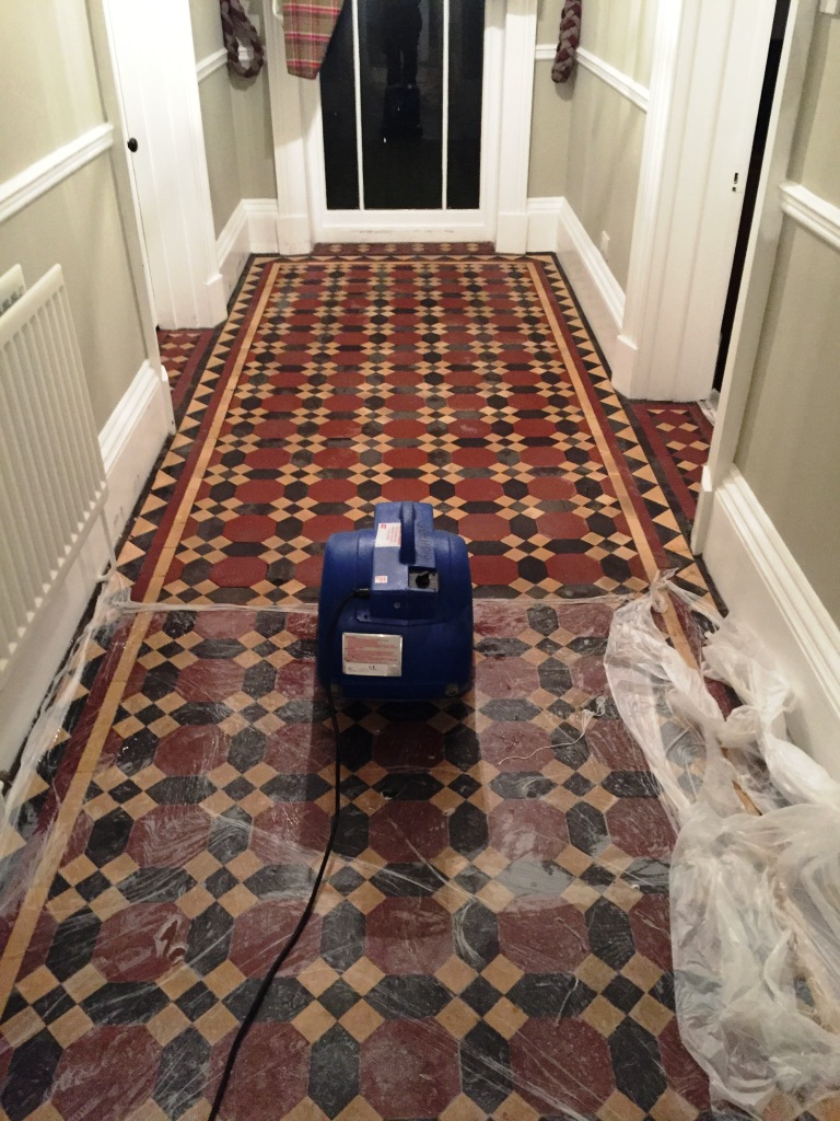 Victorian floor tiles restoration choice image home flooring design tile cleaning cleaning and maintenance advice for victorian victorian hallway floor tiles during restoration in bridlington doublecrazyfo Gallery