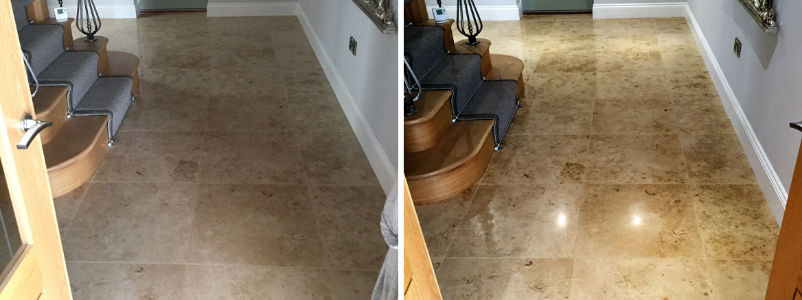 Marble Floor Tiles Restored Through Burnishing in North Ferriby